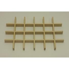 Разделитель ящика для аксессуаров на 24 ячейки, береза
